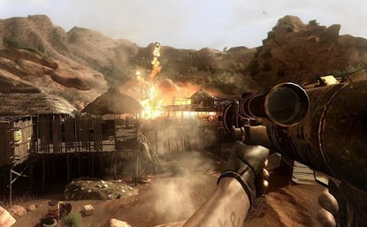 X3f Hands On The Beginning Of Far Cry 2 On A Movie Theater Sized