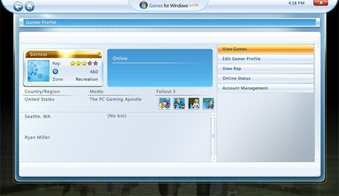game for windows live login