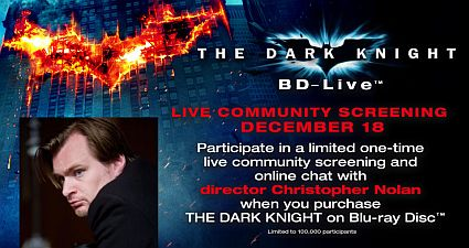 Chat with Christopher Nolan in The Dark Knight's BD-Live chat