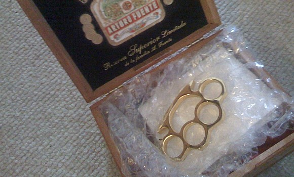 EA sent us a really bitchin' set of brass knuckles.