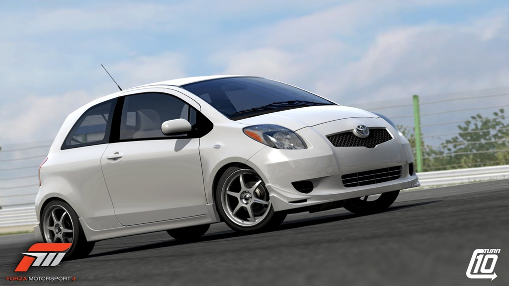 yaris makes a appearance in forza motorsport 3 toyota. Black Bedroom Furniture Sets. Home Design Ideas