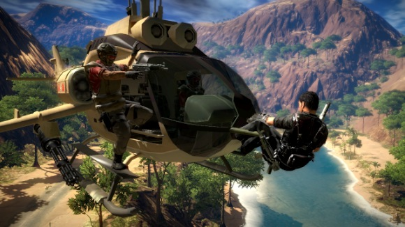 Hijacking a helicopter.