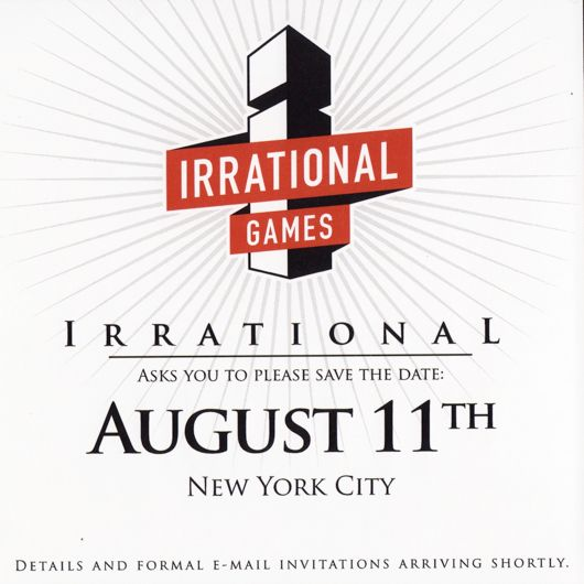 Irrational Games invitation