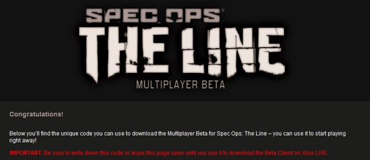 Spec Ops: The Line beta
