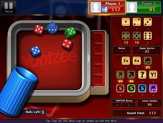 Yahtzee on iPad