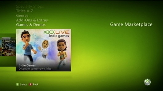 Xbox Live Indie Games store now falls under Games & Demos section
