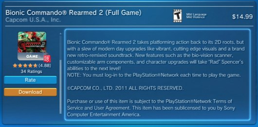 Bionic Commando Rearmed 2 DRM