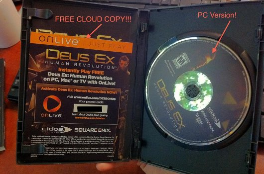 Deus Ex PC box