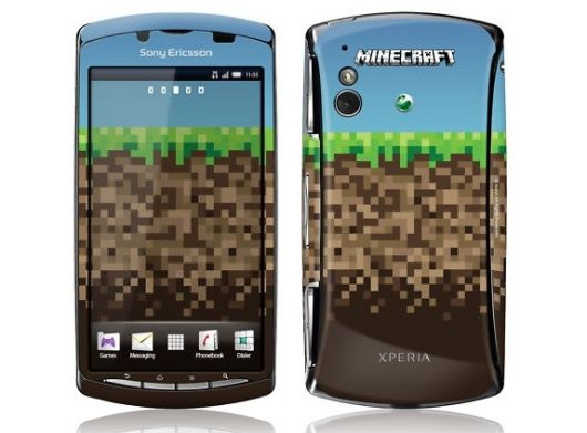 Custom-made Minecraft Xperia Play phone