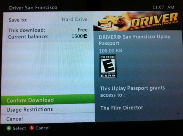 Driver San Francisco For Xbox 360 Missing Uplay Passport Update