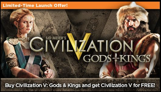 Buy Civ 5 expansion from OnLive, get Civ 5 free this week