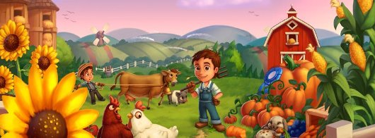 Farmville 2 features 3D graphics, farming