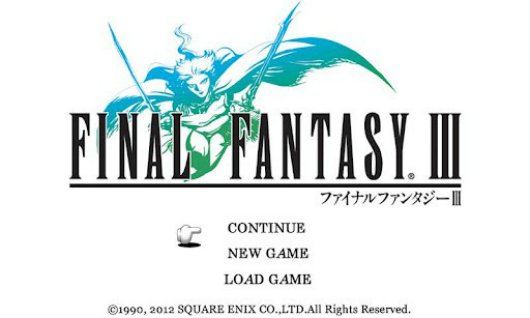 Final Fantasy 3 now on Android