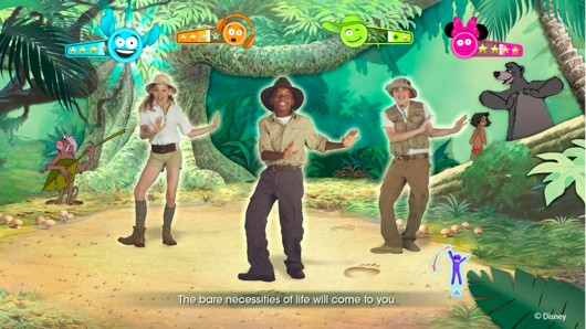Just Dance Disney Party features the bare necessities