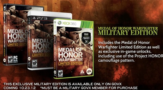 Medal of Honor Warfighter gets militaryonly special edition