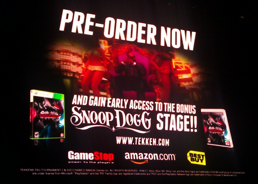 Tekken Tag Tournament 2 receiving Snoop Dogg stage