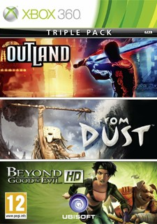 Beyond Good & Evil, From Dust and Outland triple pack gets box art
