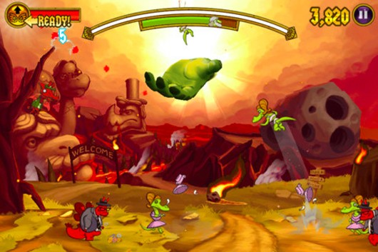 Velocirapture, new game from Monsters Ate My Condo dev, smites iOS