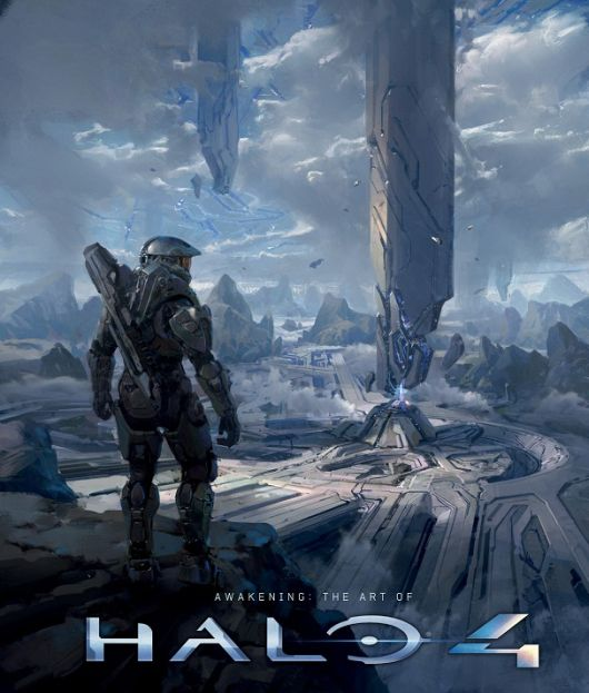 The cover of Awakening The Art of Halo 4 has art and Halo 4