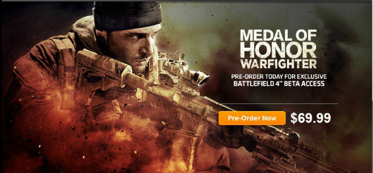 Rumor Battlefield 4 outed by Medal of Honor Warfighter preorder promotion