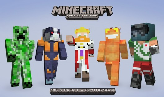 Play as some XBLA favorites with new Minecraft skins