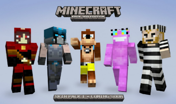 More Minecraft XBLA skins include Ms Splosion Man, Banjo