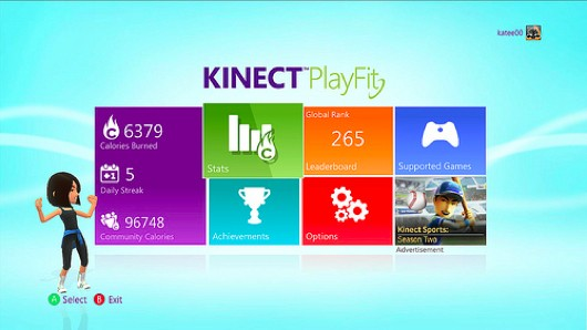 Xbox's 'Kinect PlayFit' dashboard tracks exercise across games