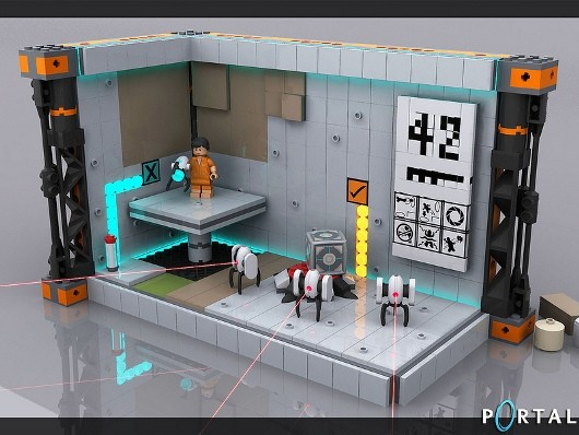 Portal 2 Lego set off to official review by 'Lego jury'