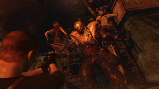 Leon, Chris and Jake have a pretty rough time in these Resident Evil 6 videos and screens