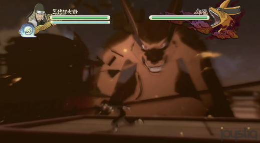Fullres version of Naruto trailer, the game is in 3D