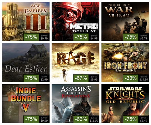 Steam Summer Sale, Day 5 Metro 2033, RAGE, Assassin's Creed Revelations and more