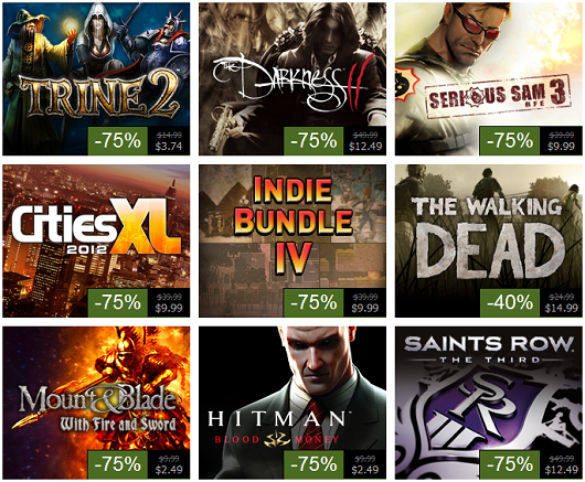 Steam Summer Sale, Day 4 Saints Row The Third, Darkness 2, Walking Dead, Indie Bundle 4 and more