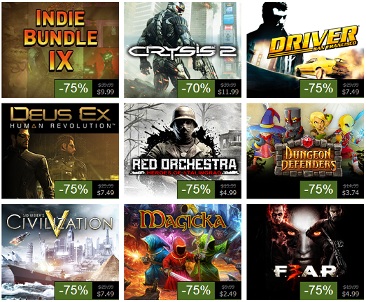 Steam Summer Sale, Day 9 Dungeon Defenders, Crysis 2, Civ 5 and more