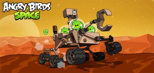 Angry Birds Space hijacks Curiosity Mars Rover, takes it for a spin