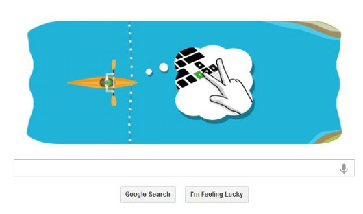 Latest Google Doodle hits the rapids