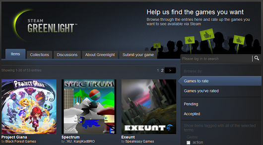 Steam Greenlight is live, more than 30 games awaiting judgement