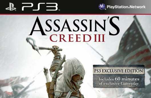 Packaging says PS3 Assassin's Creed 3 to have an hour of exclusive content
