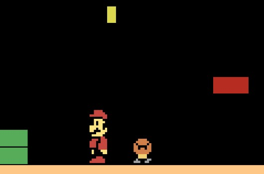 Super Mario Bros demade for Atari 2600