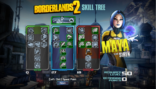 Borderlands Skill tree