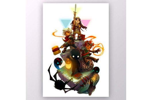Humble Bundle 5 art print by Supergiant