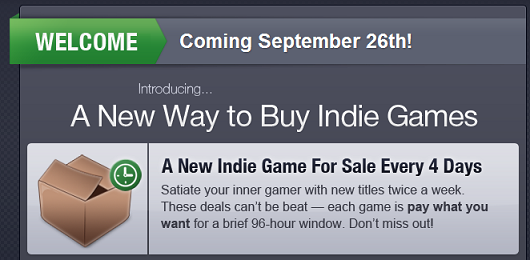 Wootesque indie platform IndieGameStand launching on Sept 26