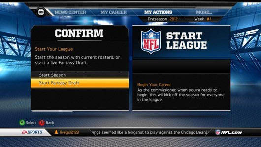 Madden 13 gets serverside fantasy drafts