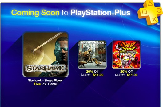 PlayStation Plus update has free Starhawk, discount Tokyo Jungle