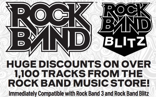 Massive Rock Band halfoff DLC sale