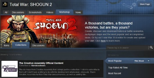 Total War Shogun 2 'Assembly Kit' launches, integrates Steam Workshop