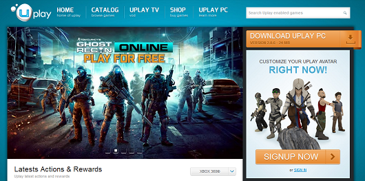 how to get to uplay layout in game