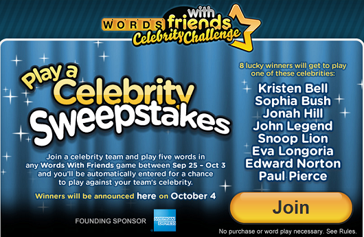 Words with Friends charity game pits Edward Norton vs Snoop Lion, others