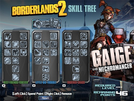 Take a look at the Borderlands 2 Mechromancer skill tree