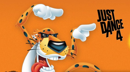 It's easier for Chester Cheetah to be cheesy in Just Dance 4