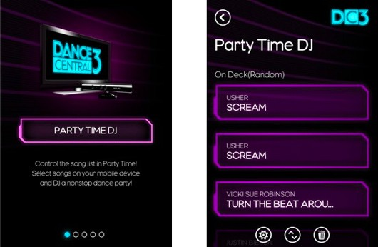 Dance Central 3's SmartGlass app, full track list detailed